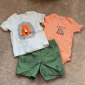 NWOT Carter's Lion Outfit